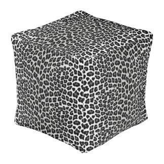Snow leopard pouf