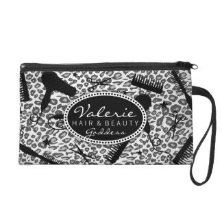 Snow Leopard Print Hair Salon Tools (Custom) Bag