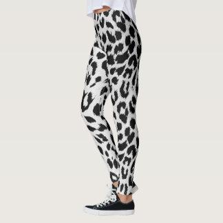Snow Leopard Print Leggings