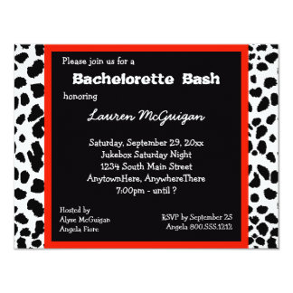 Snow Leopard Print Party Invitation