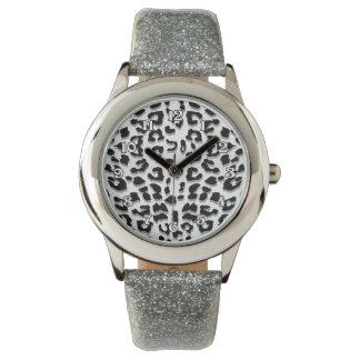 Snow Leopard Print Watch