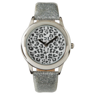 Snow Leopard Print Wrist Watches