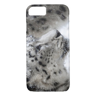 Snow Leopard Profile Portrait iPhone 7 Case