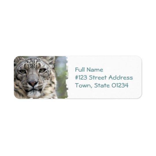 Snow Leopard Return Address Mailing Label Return Address Label