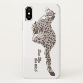 Snow Leopard Running Apple iPhone X Case