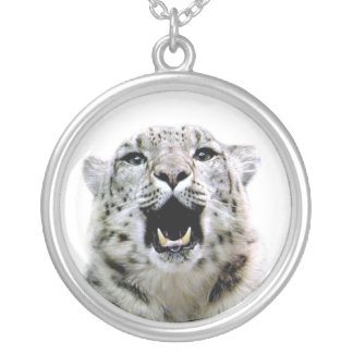 Snow Leopard Silver Plated Necklace