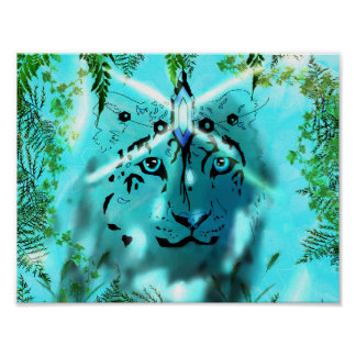 Snow leopard Spirit poster