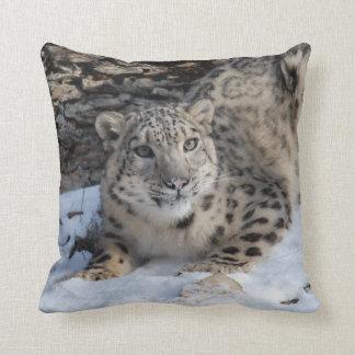 Snow Leopard Square Toss Cushion