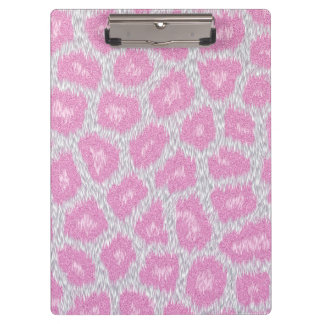 Snow Leopard style - Silver Pink Clipboard