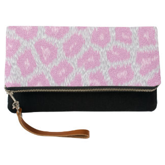 Snow Leopard style - Silver Pink Clutch