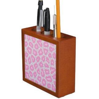 Snow Leopard style - Silver Pink Desk Organizer