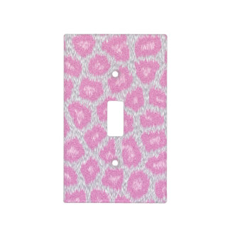 Snow Leopard style - Silver Pink Light Switch Cover