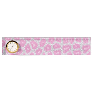 Snow Leopard style - Silver Pink Nameplate