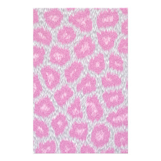 Snow Leopard style - Silver Pink Stationery