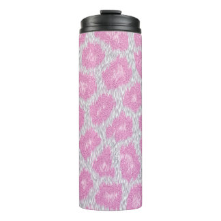 Snow Leopard style - Silver Pink Thermal Tumbler