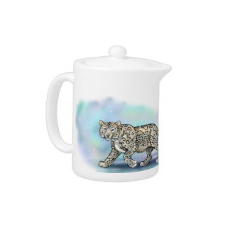Snow Leopard~ teapot