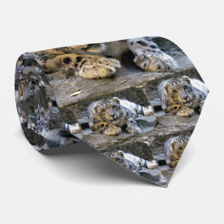 Snow Leopard the Starring Feline Cat Tie