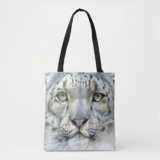 Snow Leopard Tote Bag