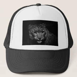 snow-leopard trucker hat
