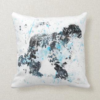 Snow Leopard, watercolor Snow Leopard Throw Pillow