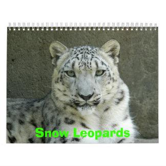 Snow Leopards Calendar, Snow Leopards Wall Calendar