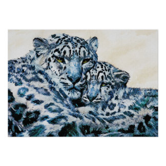 snow leopards poster