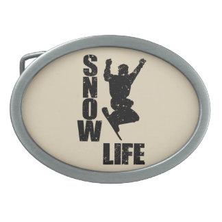 SNOW LIFE #3 (blk) Belt Buckles