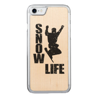 SNOW LIFE #3 (blk) Carved iPhone 8/7 Case