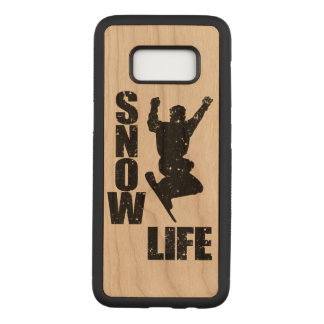 SNOW LIFE #3 (blk) Carved Samsung Galaxy S8 Case