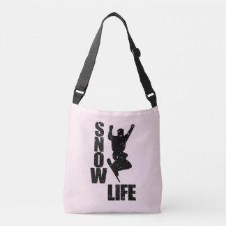 SNOW LIFE #3 (blk) Crossbody Bag