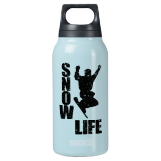 SNOW LIFE #3 (blk) Insulated Water Bottle