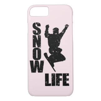 SNOW LIFE #3 (blk) iPhone 8/7 Case
