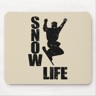 SNOW LIFE #3 (blk) Mouse Pad