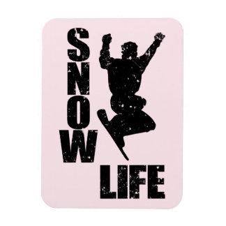 SNOW LIFE #3 (blk) Rectangular Photo Magnet