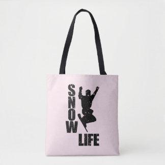 SNOW LIFE #3 (blk) Tote Bag