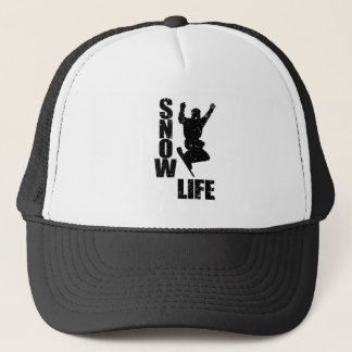 SNOW LIFE #3 (blk) Trucker Hat