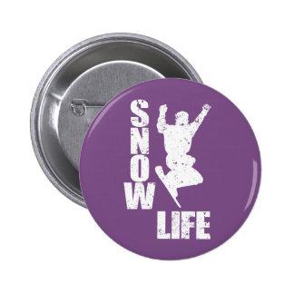 SNOW LIFE #3 (wht) 2 Inch Round Button