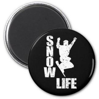 SNOW LIFE #3 (wht) 2 Inch Round Magnet