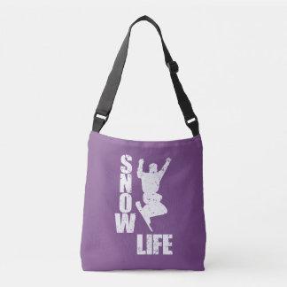 SNOW LIFE #3 (wht) Crossbody Bag
