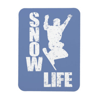 SNOW LIFE #3 (wht) Magnet