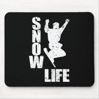SNOW LIFE #3 (wht) Mouse Pad