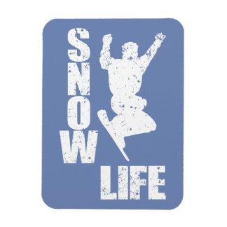 SNOW LIFE #3 (wht) Rectangular Photo Magnet