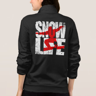 SNOW LIFE red boarder (blk)