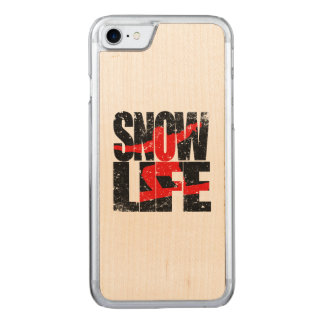 SNOW LIFE red boarder (blk) Carved iPhone 8/7 Case