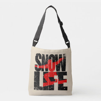 SNOW LIFE red boarder (blk) Crossbody Bag