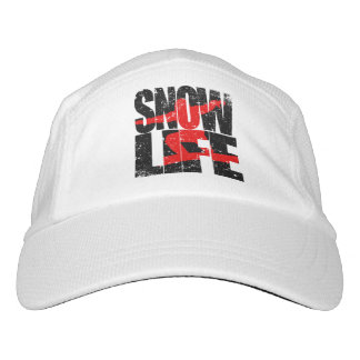 SNOW LIFE red boarder (blk) Headsweats Hat