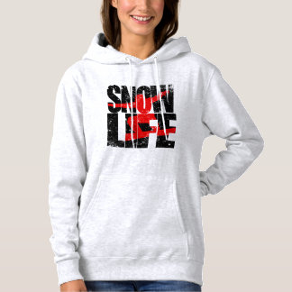 SNOW LIFE red boarder (blk) Hoodie