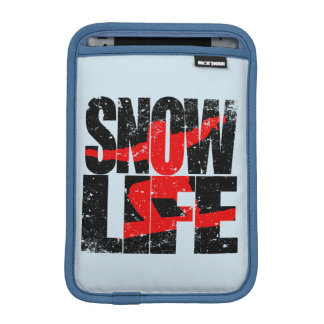 SNOW LIFE red boarder (blk) iPad Mini Sleeve