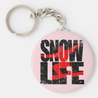 SNOW LIFE red boarder (blk) Keychain