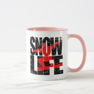 SNOW LIFE red boarder (blk) Mug